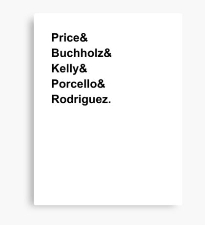 Red Sox Starting Rotation 2016 Canvas Print