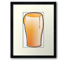 Beer drink glass Framed Print