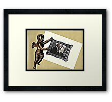 . . .and therefore is winged Cupid painted blind. . .  Framed Print