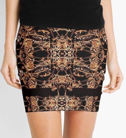 Dark Ornate Abstract Pattern Mini Skirt