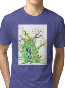 Energy Tree - Rising Sap - Natural Art Tri-blend T-Shirt