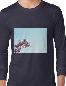 Cherry Blossom on Blue Sky Long Sleeve T-Shirt