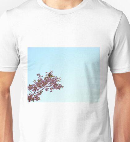 Cherry Blossom on Blue Sky Unisex T-Shirt