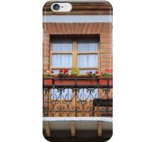Balcony With Flowers iPhone Case/Skin