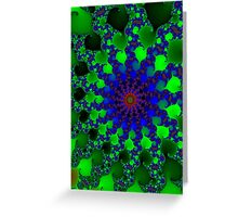 spiraling consciousness, expanding always Greeting Card