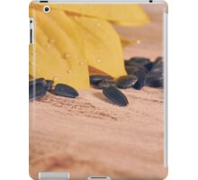 sunflowers and scattered sunflower seeds iPad Case/Skin