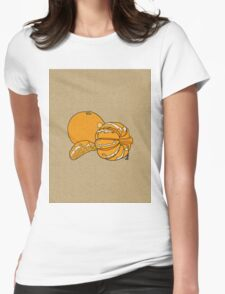 Citrus on linen Womens Fitted T-Shirt