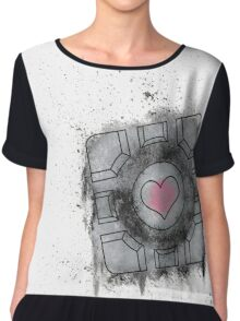 Portal Inspired art Chiffon Top