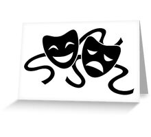 Theater Masks Greeting Card