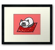 Sleeping Marshmallow Framed Print