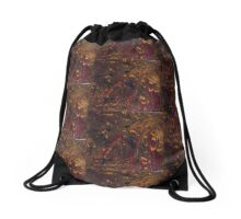 Dark & gold Drawstring Bag