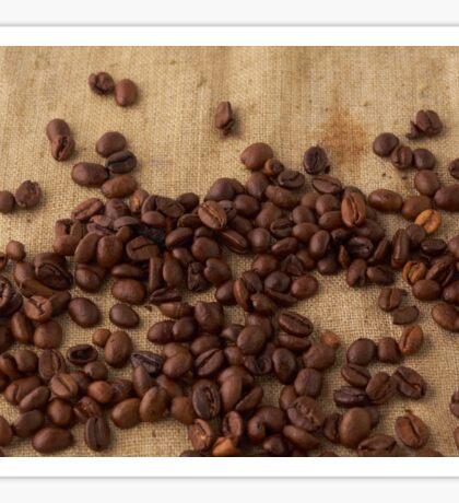scattered coffee bean Sticker