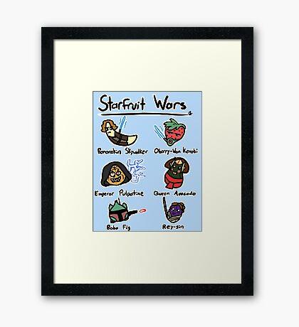 Starfruit Wars Framed Print