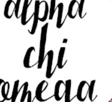 Flower Alpha Chi Omega Sticker