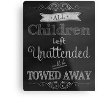 Humorous Chalkboard typography business decor Metal Print