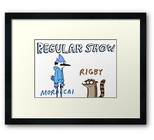 Regular Show Rigby and Mordecai Framed Print