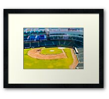Baseball Field by Monique Ortman Framed Print