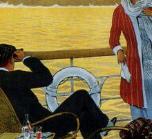Vintage 1920s ocean liner cruises to Brazil Plata advert Sticker