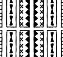 Black and White Geometric Hawaiian Bark Cloth Tribal Tattoo Markings Kapa Sticker