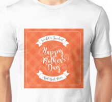 Happy Mothers Day swirly type design Unisex T-Shirt