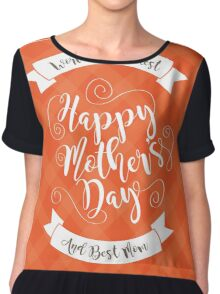 Happy Mothers Day swirly type design Chiffon Top
