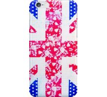 Union Jack with vintage flowers and polka dots iPhone Case/Skin