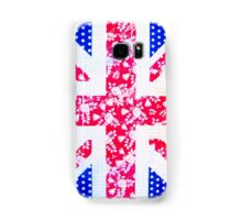 Union Jack with vintage flowers and polka dots Samsung Galaxy Case/Skin