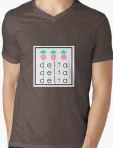 Tri Delta Tri Pineapple Mens V-Neck T-Shirt