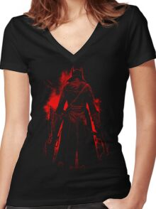 Beast Blood Women's Fitted V-Neck T-Shirt