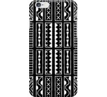 Black and White Kapa Geometric Hawaiian Bark Cloth Tribal Tattoo Markings Kapa iPhone Case/Skin