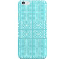Tiffany Aqua Kapa Geometric Hawaiian Bark Cloth Tribal Tattoo Markings Kapa iPhone Case/Skin