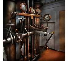 Steampunk - Controls - The Steamship control room Photographic Print