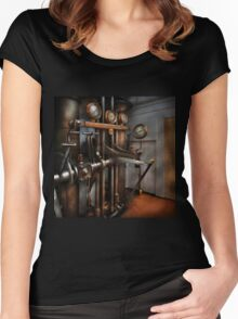 Steampunk - Controls - The Steamship control room Women's Fitted Scoop T-Shirt