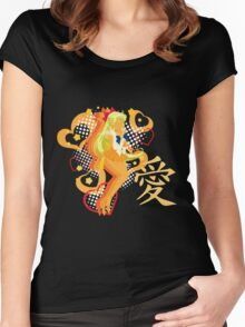 Soldier of Love & Beauty Women's Fitted Scoop T-Shirt