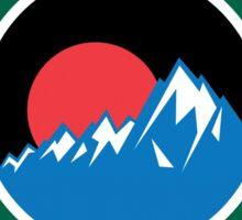 YELLOWSTONE WYOMING MOUNTAINS EXPLORE ROUND GREEN ART Sticker
