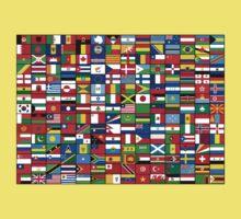 The World's Flags Kids Tee
