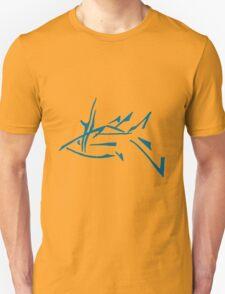Abstract Blue Fish T-Shirt