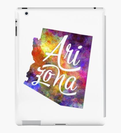 Arkansas US State in watercolor text cut out iPad Case/Skin