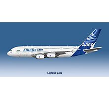 Illustration of Airbus A380 In House 2010 - Blue Version Photographic Print