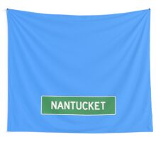 Nantucket Highway Sign Wall Tapestry