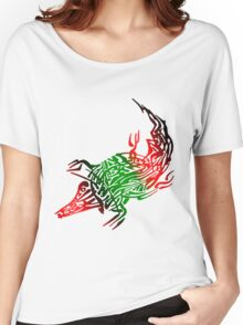 Abstract Crocodile Women's Relaxed Fit T-Shirt