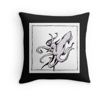Graphic Squid Throw Pillow