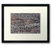 Surface of a gneiss rock Framed Print