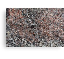 Macro photo of the surface of a gneiss rock. Canvas Print