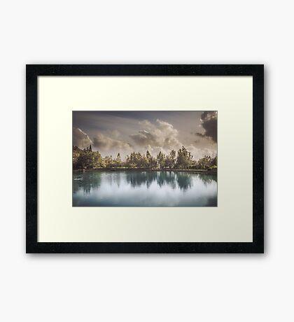 Lake of Zaros at spring Framed Print