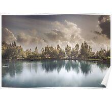 Lake of Zaros at spring Poster