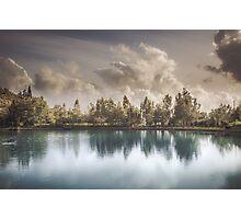 Lake of Zaros at spring Photographic Print