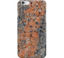 Macro photo of the surface of a gneiss rock. iPhone Case/Skin
