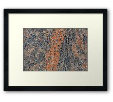 Macro photo of the surface of a gneiss rock. Framed Print