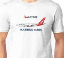 Illustration of Qantas Airbus A380  Unisex T-Shirt